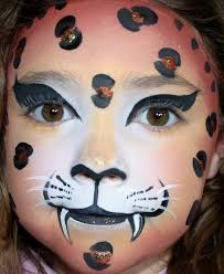 leopard face paint leopard face painted by professional face