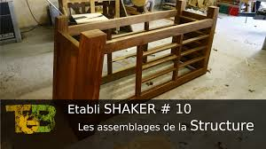 Etabli De Menuisier Ancien En Bois Un établi Shaker Les Assemblage De La Structure Wood Joinery