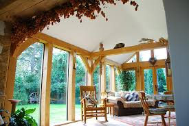 oak frame garden room extension 2 oakcraft