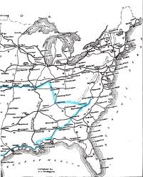 Eastern States Map by History Coast 2 Coast In 1922