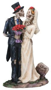 halloween collectible figurines amazon com love never dies wedding couple figurine home u0026 kitchen