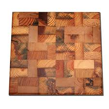end grain butcher block reclaimed wood cutting board 89 95 via