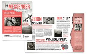 bible church brochure template design