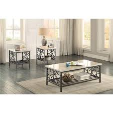 Marble Top  Piece Coffee Table Set Fairhope RC Willey - Living room table set