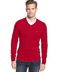 hilfiger sweater mens hilfiger signature solid v neck sweater sweaters