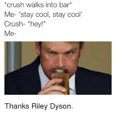 Stay Cool Meme - crush walks into bar me stay cool stay cool crush hey me thanks