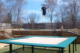maxair trampolines in ground trampolines custom super trampolines