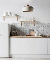 EyeCatchy Hexagon Tile Ideas For Kitchens DigsDigs - Hexagon tile backsplash