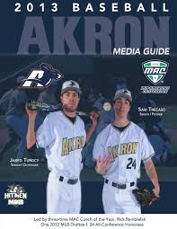 2013 akron baseball media guide by akron zips issuu