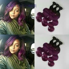 pictures of black ombre body wave curls bob hairstyles brazilian virgin hair body wave t1b purple ombre human hair