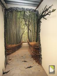 trompe l oeil path in the forest by philippe baro trompe l trompe l oeil path in the forest by philippe baro mural artwall