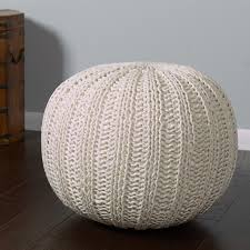 crochet denim pouf large society diy desk ideas how to