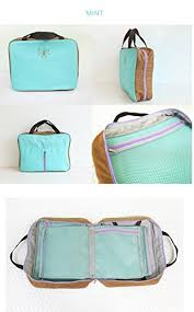 flip flop bag packnbuy travel partition bag mint blue color lightweight