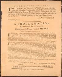 thanksgiving conservapedia