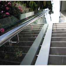 Handrail Brackets For Stairs Glass Handrail Bracket Stainless Steel Glass Bracket To Top Handrail