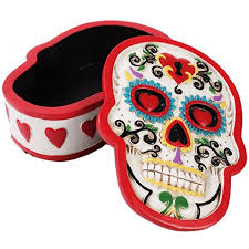 day of the dead home decor day of the dead white sugar skull box gothic decor