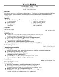 examples of professional resume 10 amazing installation repair resume examples livecareer entry level mechanic resume example