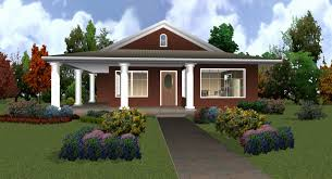 single story house designs single story double home designs house plans 41697