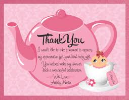 thank you baby shower pink teapot thank you cards for baby shower breathtaking idea