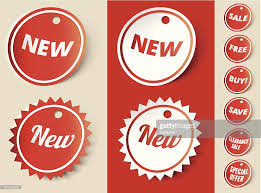 new sale sign ribbon tag vector getty images