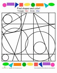 find and color the shapes worksheet education com