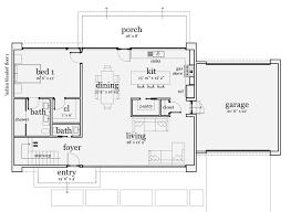 one house plan one floor modern house plans homes floor plans