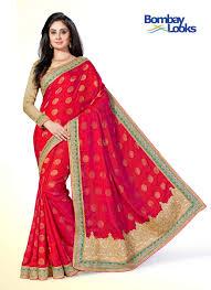 sarees beautiful rani pink banarasi saree with rama contrast border