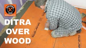 schluter ditra over wood in a bathroom part 1 by home repair