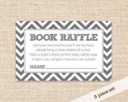 raffle baby shower book raffle ticket etsy