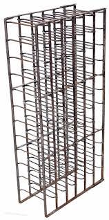 heavy steel iron wine rack 19c 66 bottles stand antiques atlas