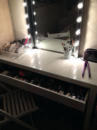 Vanity Table Set Ikea Vanities L400 Wheeled Lighted Vanity Table Full Mirror And