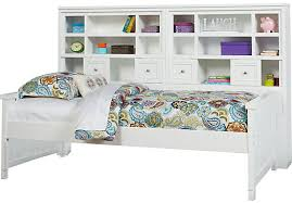 shop for a cottage colors white 5 pc twin bookcase wall bed at