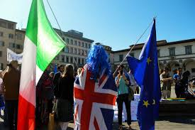 Florence Flag Theresa May In Florence Or An Old Style Socks And Sandals Brit