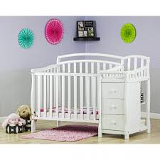 Mini Crib With Attached Changing Table White Crib With Attached Changing Table Rs Floral Design