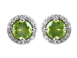 peridot earrings antique earrings green peridot earrings e0959