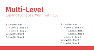 level tree menu with css