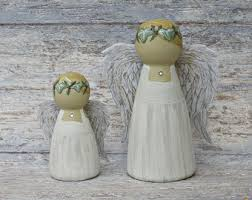 Christmas Cake Angel Decorations by Christmas Peg Dolls Etsy