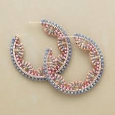 hoop beaded earrings beaded hoop earrings pandahall jewelry