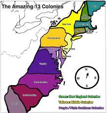 Blank 13 Colonies Map Us Map 13 Colonies