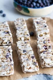 Top 10 Healthiest Granola Bars by Blueberry Vanilla Yogurt Granola Bars Recipe Vanilla