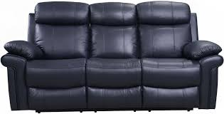 Blue Reclining Sofa by Shae Joplin Blue Leather Power Reclining Living Room Set From Luxe