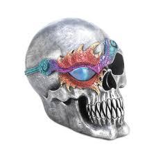 fantasy skull figurine with led light halloween decor u2013 shopping