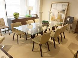 Aron Extension Dining Table With Glass Top And Spessart Oak Base - Glass top dining table ottawa