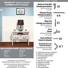 Wainscot Kit R2i Millwork Wainscot Kit Prefinished Ready To Install Fauxwood