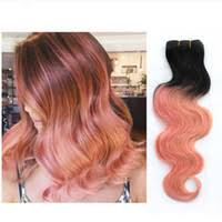 hair extension canada pink ombre human hair extension canada best selling pink ombre