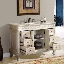 silkroad exclusive 48 inch bathroom vanity marfil counter top