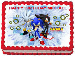 sonic the hedgehog cake topper sonic the hedgehog edible image cake topper decoration by galimeli