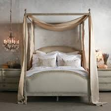 Four Post Canopy Bed Frame Four Poster Canopy Wood Bed Frame With Antique White Four Poster