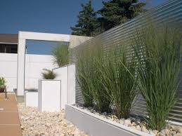 modern outdoor planters exterior contemporary with glass walls