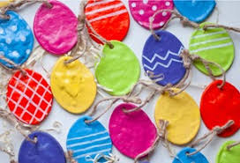 easter ornaments these salt dough easter ornaments are easter decorations at their